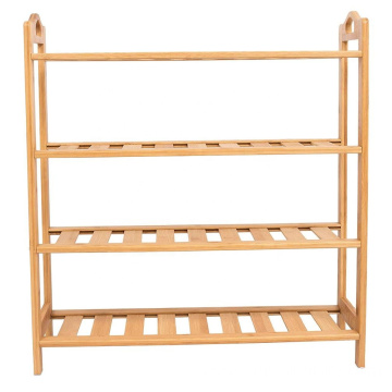 HOME Free Standing Bamboo Shoe Rack | 5 Tier | Wood | Closets and Entryway | Organizer | Fits 15 Pairs of Shoes